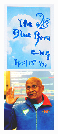 Sri Chinmoy at The Blue Bird on Novenber 30, 2002
